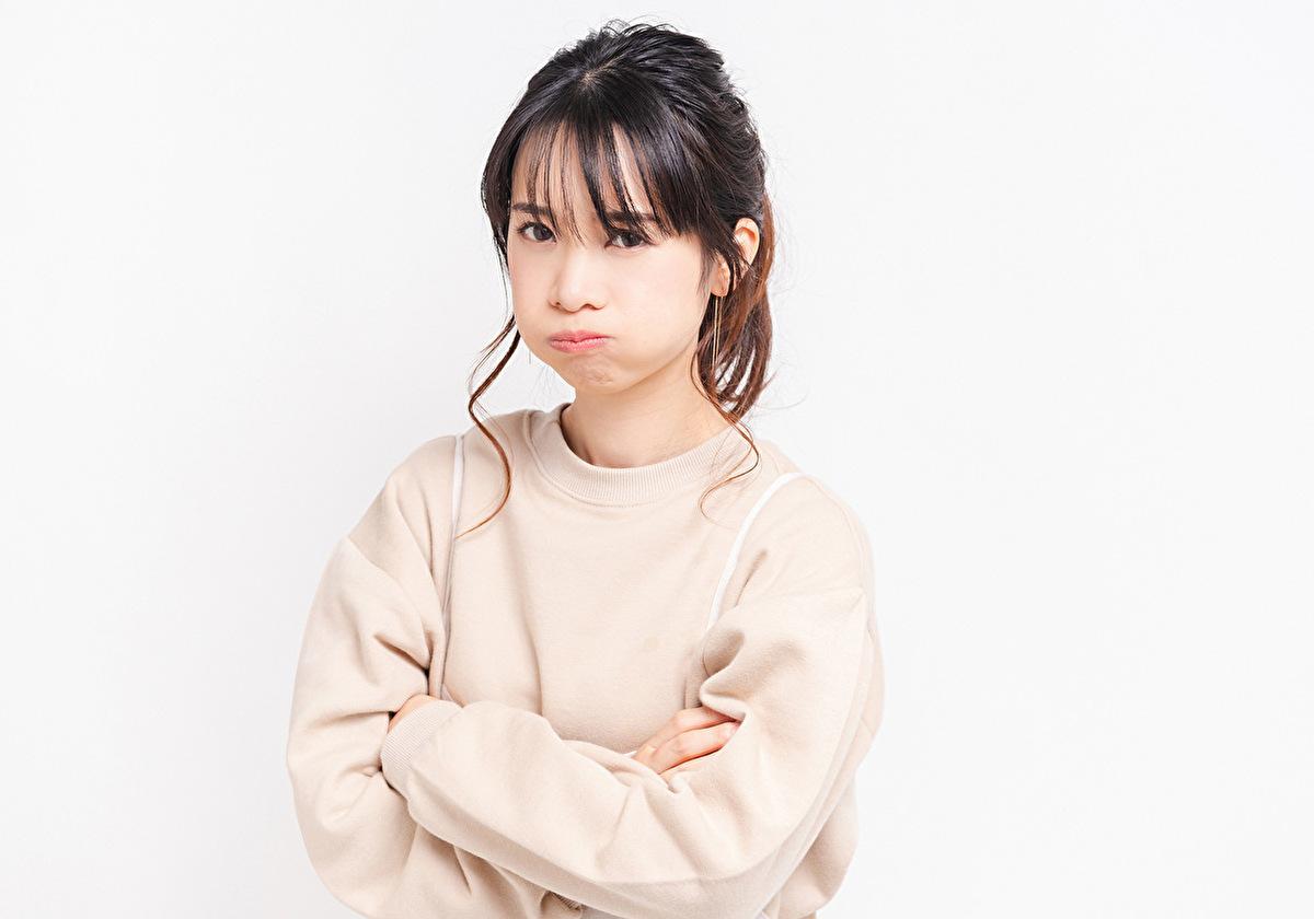 怒っている日本人女性