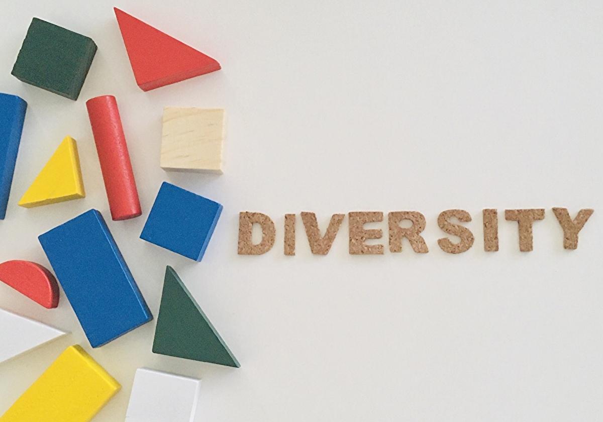ノンバイナリー社会 LGBTを表す積み木