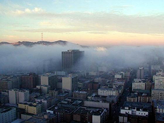 カリフォルニアの気候_サンフランシスコの濃い霧