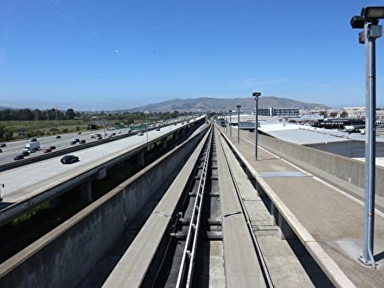 サンフランシスコの列車 BARTのレール