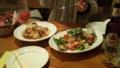 ポトフと海戦サラダなう。温かいのはやっぱこの時期いいねぇ。 #gohan