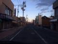 夕暮れの富岡町