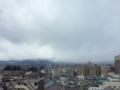 福島着、曇り