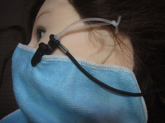 マスク代わりのタオルがズレ落ちない方法を考えてみる