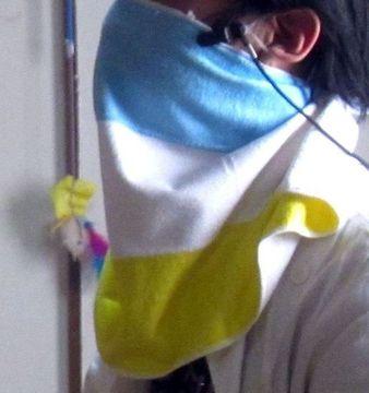 マスク代わりのタオル
