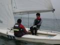[ヨット][yacht][プレプレ]レース2日目、806(赤司・小川)組