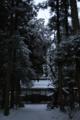 米子神社の雪景色