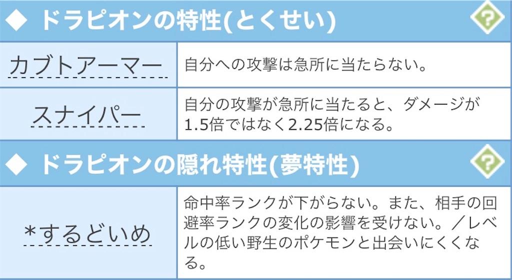 ポケモン ドラピオン 育成 論