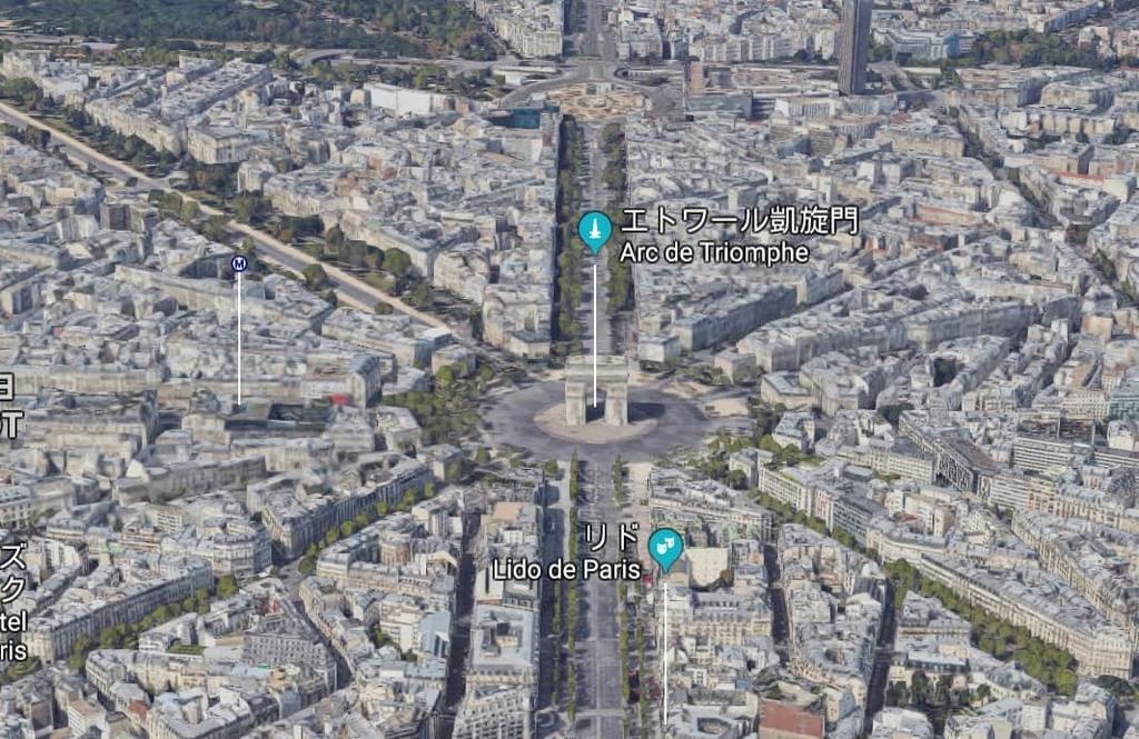 パリ(Google Mapsより)