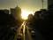 パンティプ歩道橋から夕景