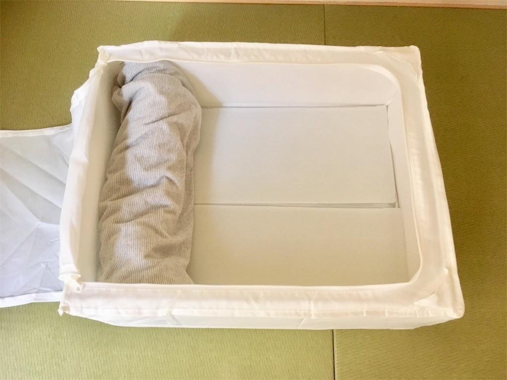 IKEA・SKUBBのSサイズはタオルケットなら5,6枚入る