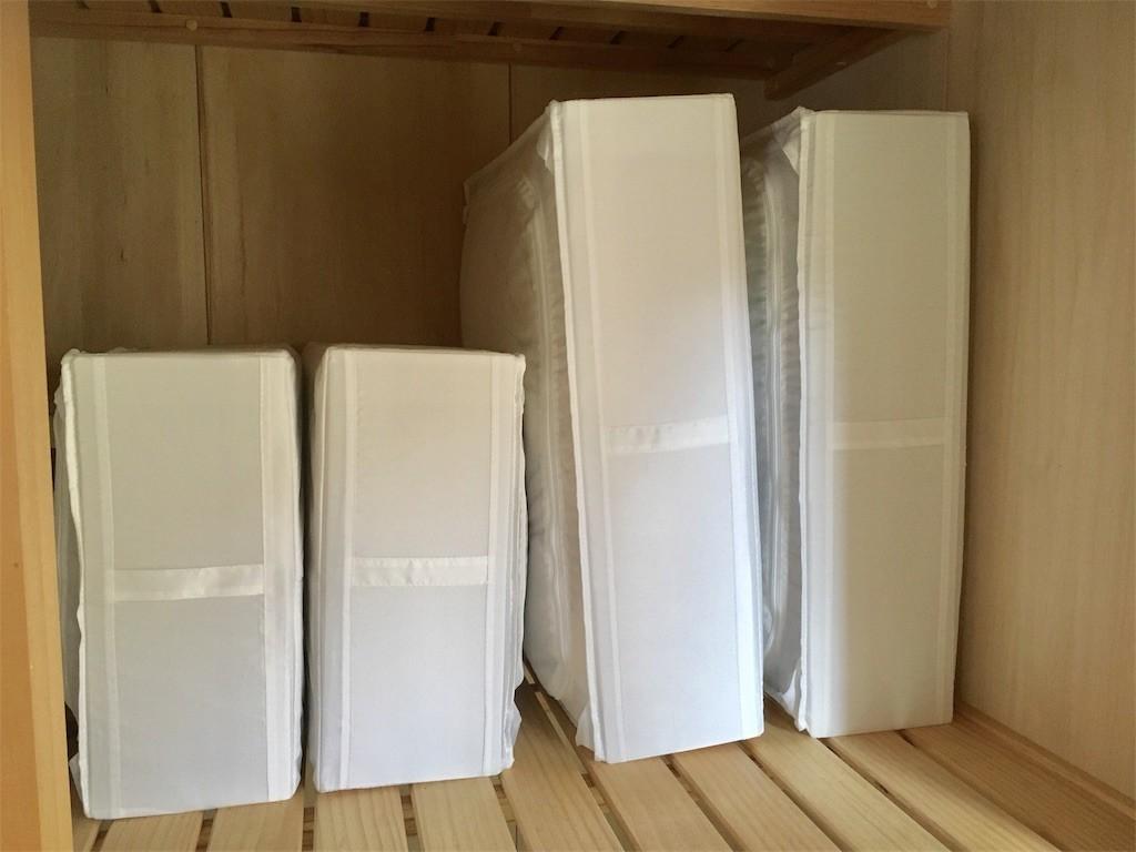 IKEA・SKUBBで布団の押し入れ収納(縦置き)