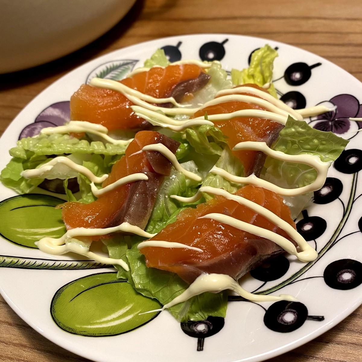 ふるさと納税 エンペラーサーモン 食べ方 サラダ