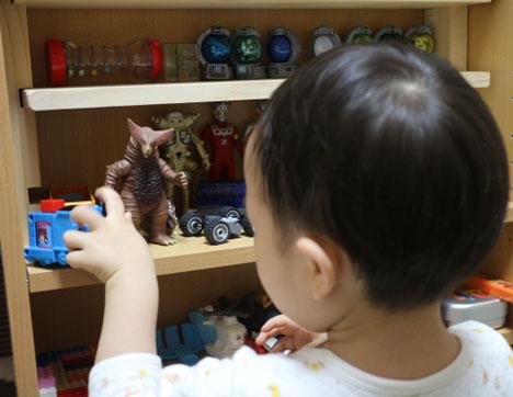 3歳のおもちゃ棚