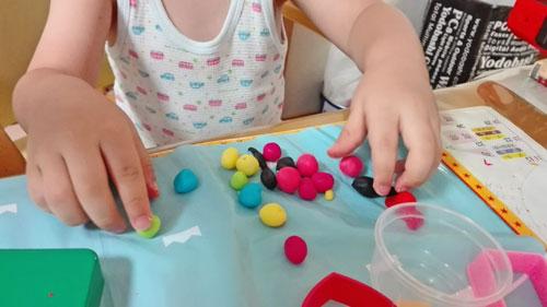 3歳 粘土遊び