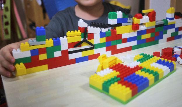 ブロックで作った船