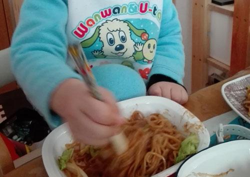 3歳11か月 お料理