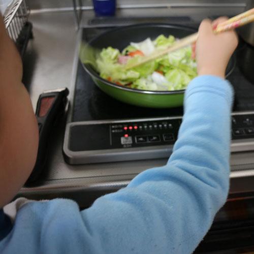 3歳11ヶ月 お料理