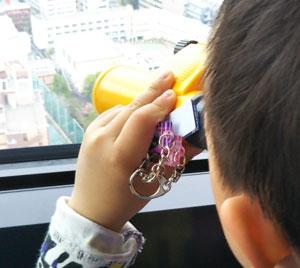 息子、東京タワーに行く