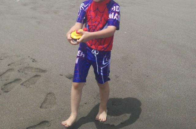 スパイダーマンの水着 5歳♪