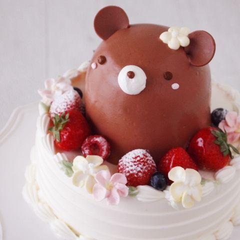 アニマルデコレーションケーキ(くま)