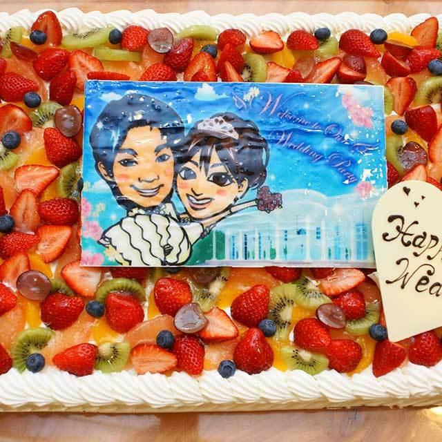 パーティー用大型フォトケーキ スクウェア 35㎝×25㎝(20~26名様分)