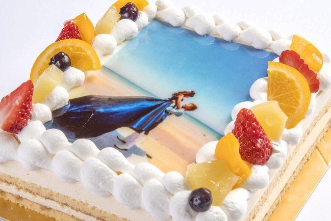 写真ケーキ(レアチーズ)