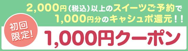 初回予約限定1,000円クーポン