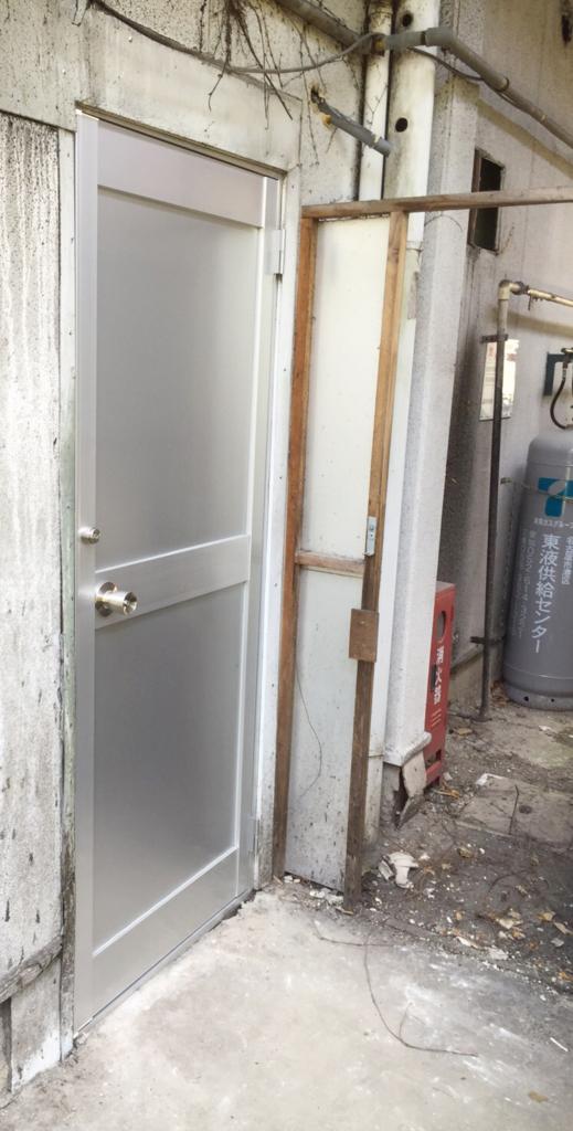 アルミ框ドア交換後