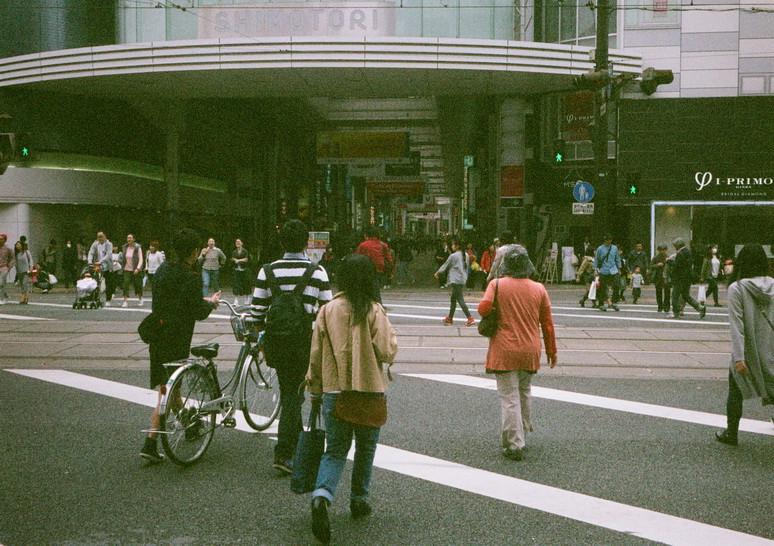 熊本・通町筋交差点2