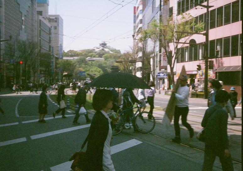 熊本・通町筋交差点