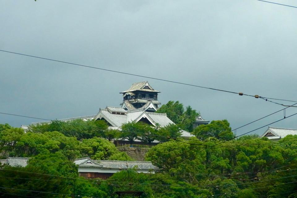 熊本城天守閣の現在の様子