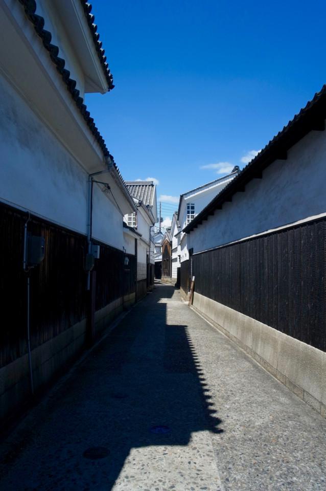 倉敷1 青空と白壁が白壁がよくあう