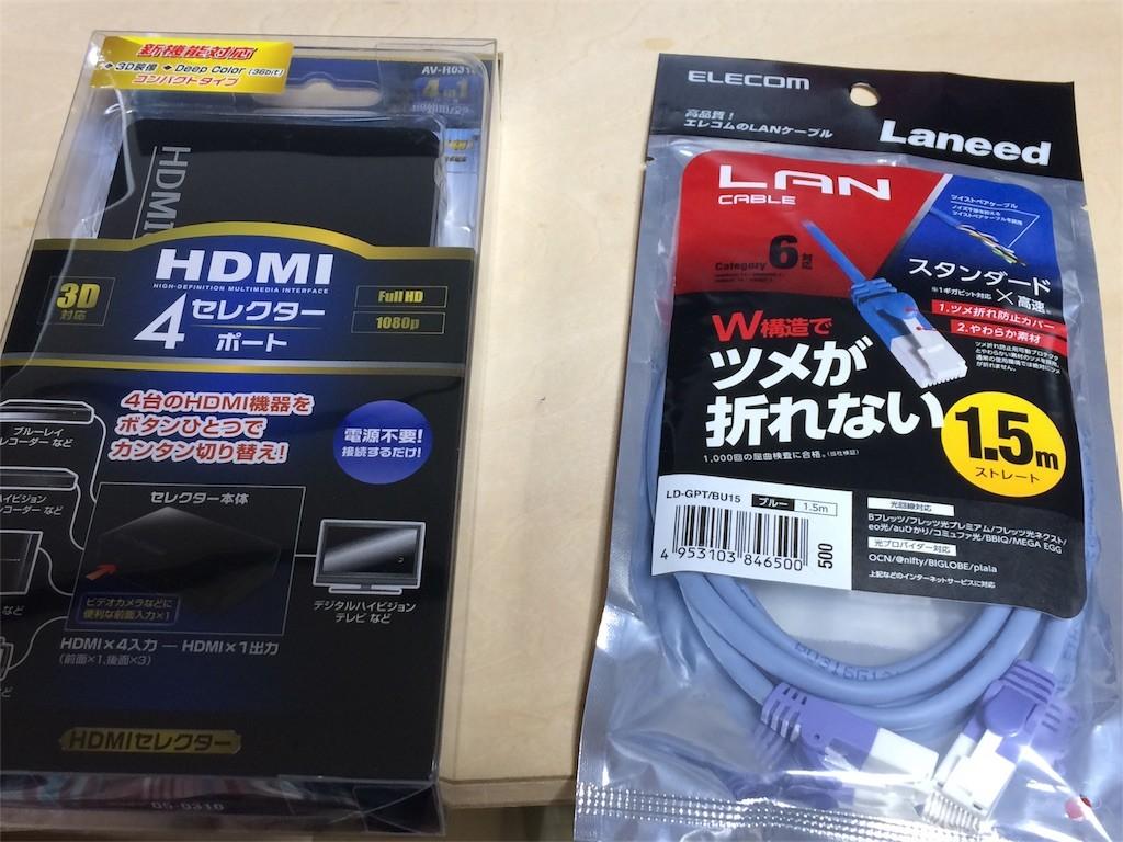 HDMIセレクターとケーブルを同時購入