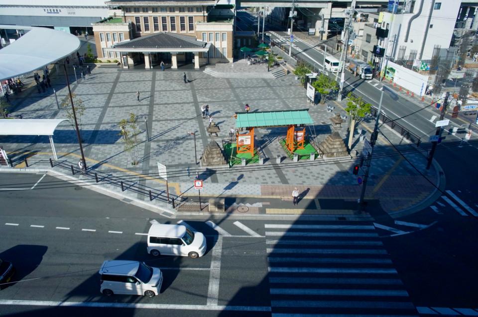 JR奈良駅前のホテルから