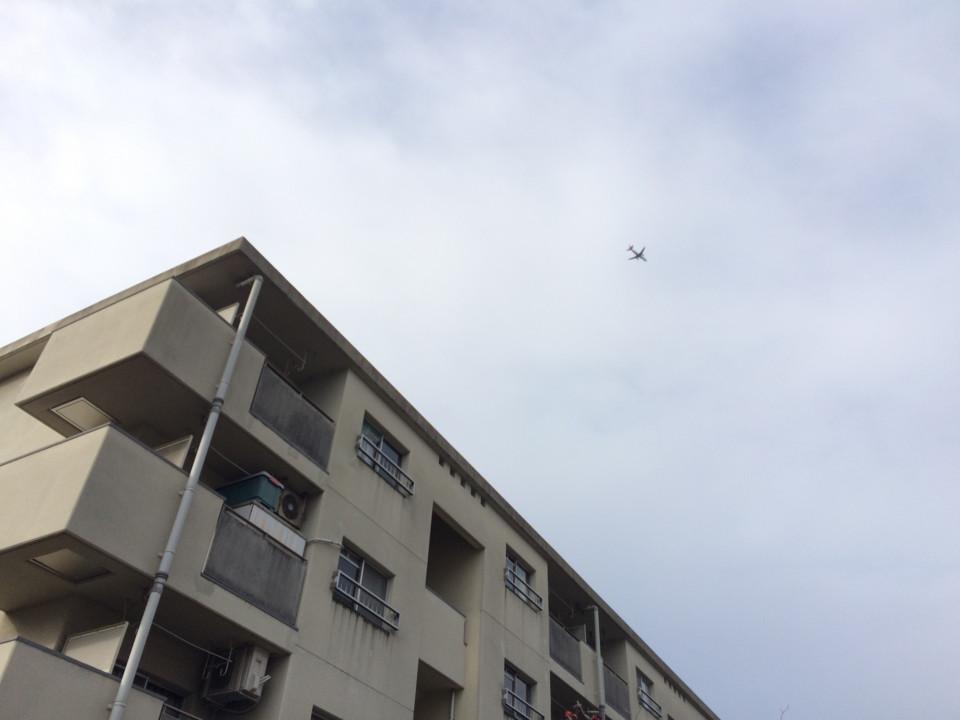 団地と飛行機