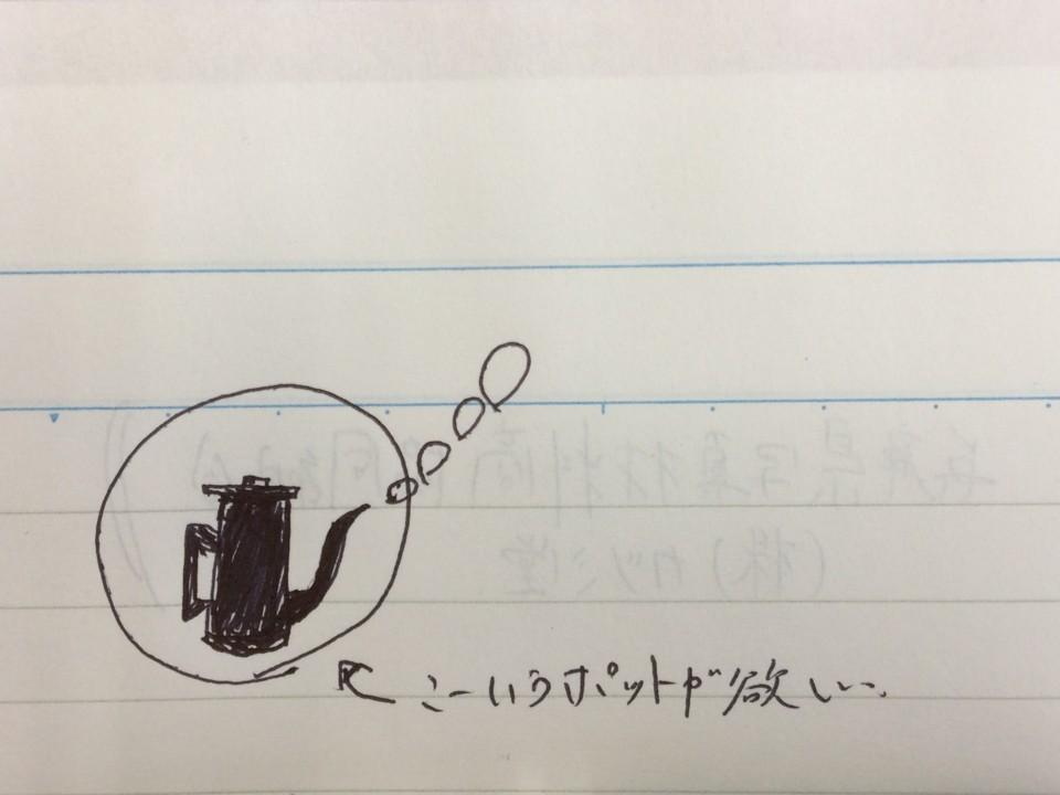 落書きのコーヒーポット