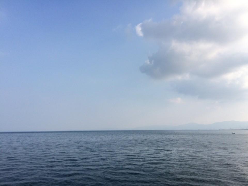 帰省先の海