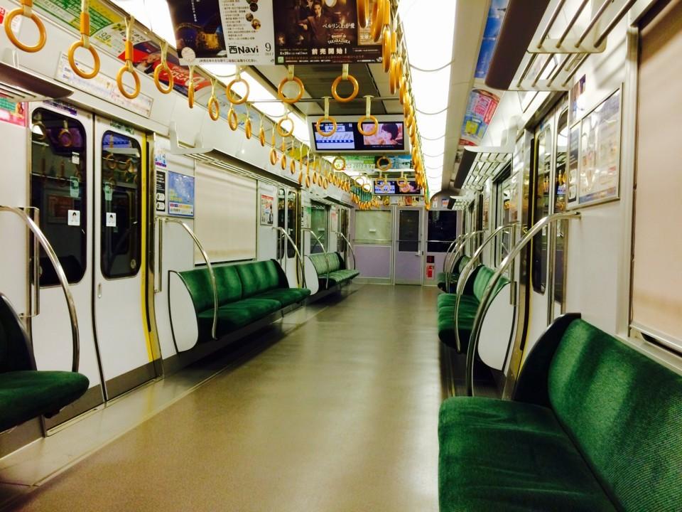 帰宅時の電車内
