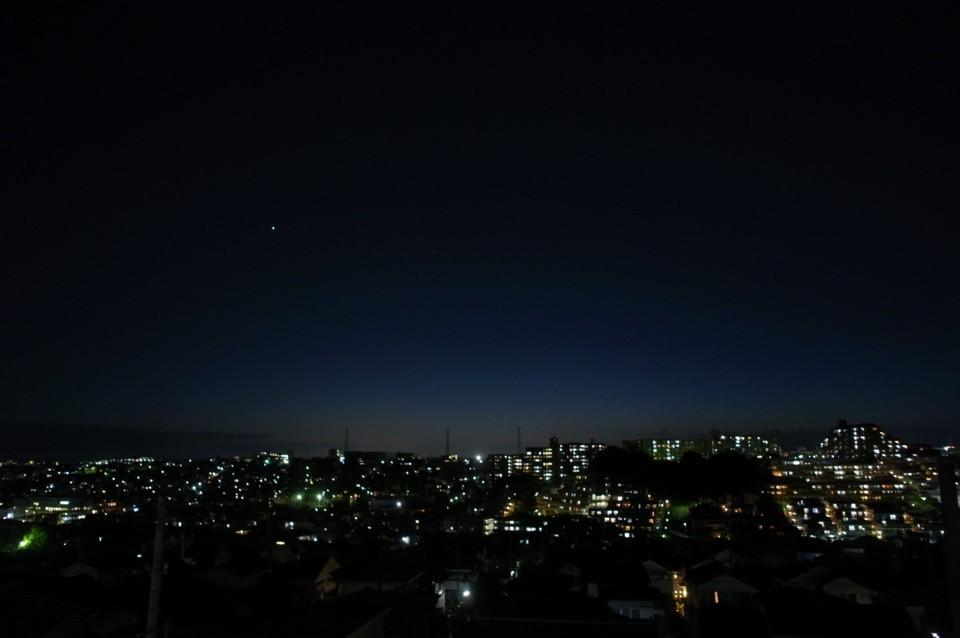 青い夕焼け