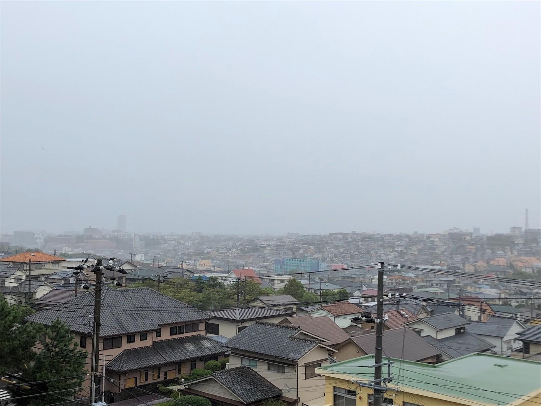 台風直撃時の様子