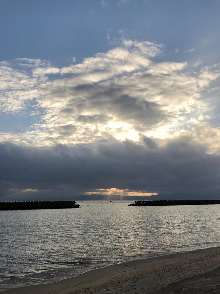 1月の海は寒いけど穏やかだった