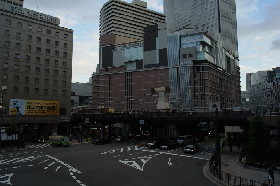 梅田の通り