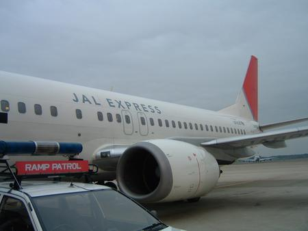 B737in成田国際空港