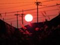 [風景]ボタ山に沈む夕日