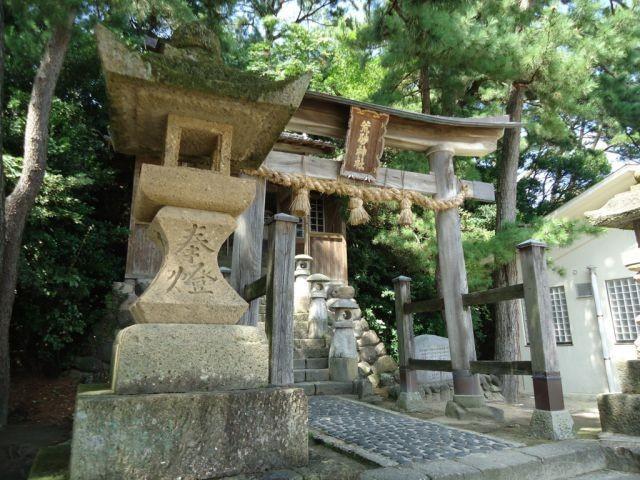 浦富海岸 荒砂神社