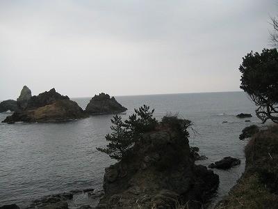 冬の浜坂海岸