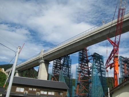余部鉄橋工事の進捗状況