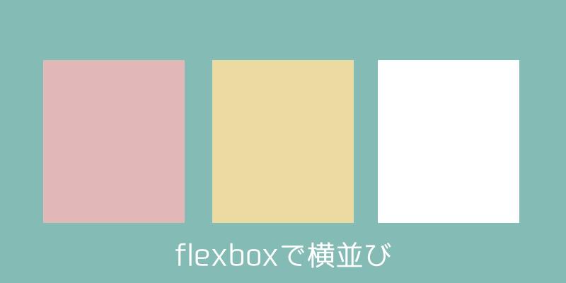 flexboxで横並びレイアウト