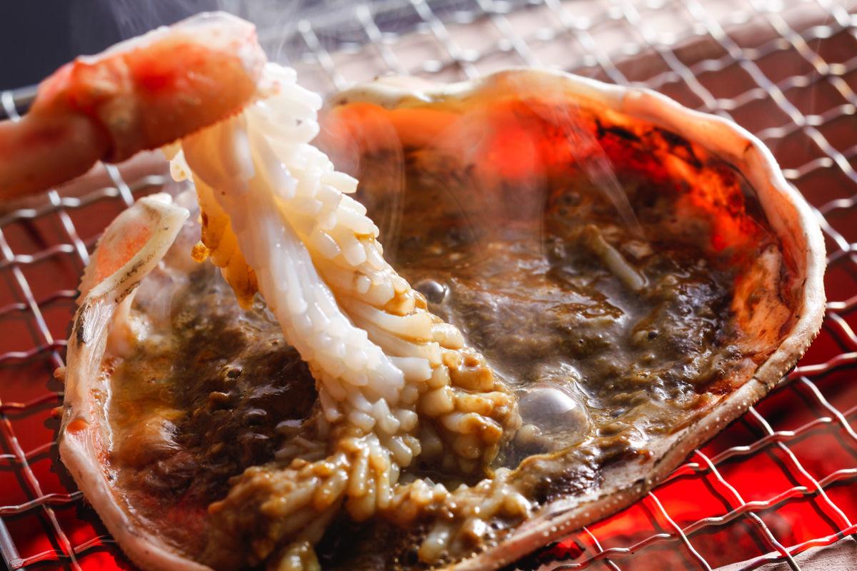 甲羅かに味噌焼き
